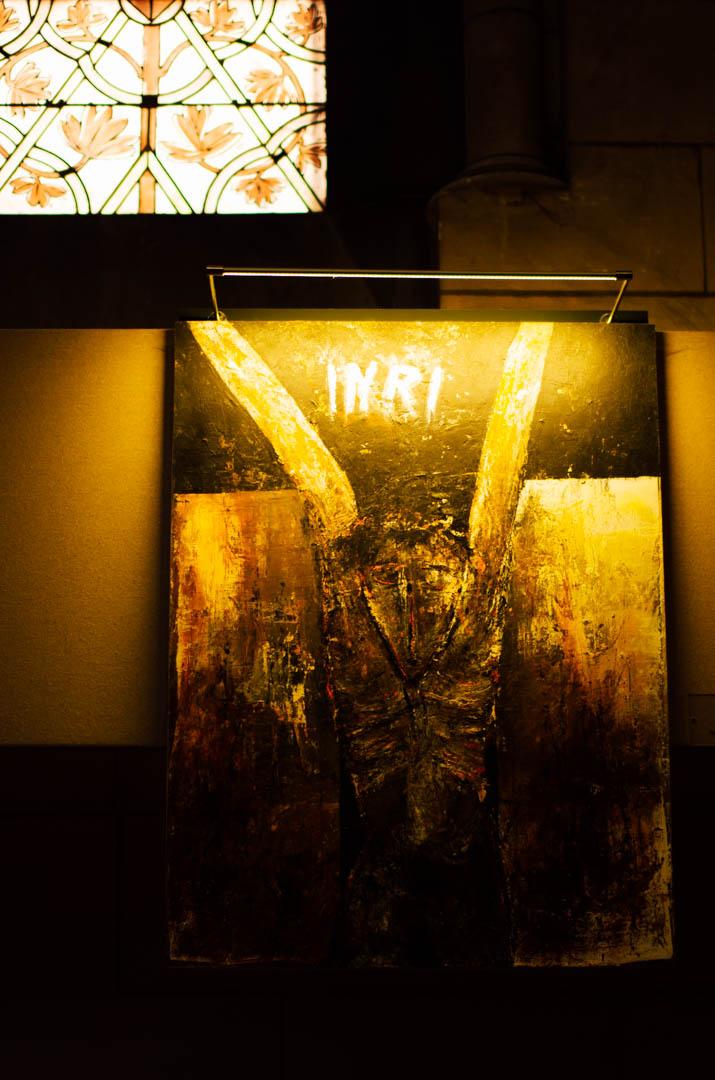 chemin de croix jean luc bonduau cathédrale notre dame de la treille lille P6160
