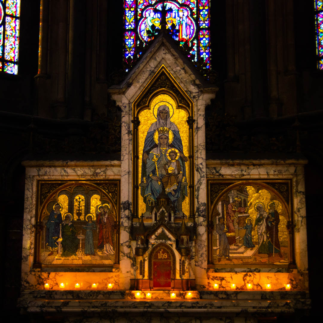 chapelle sainte anne nuit des cathedrales cathedrale notre dame de la treille lille