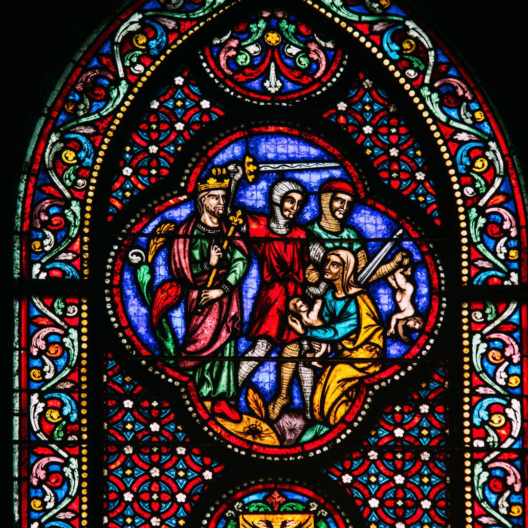 le massacre des innocents vitrail chapelle absidiale notre dame de la treille lille