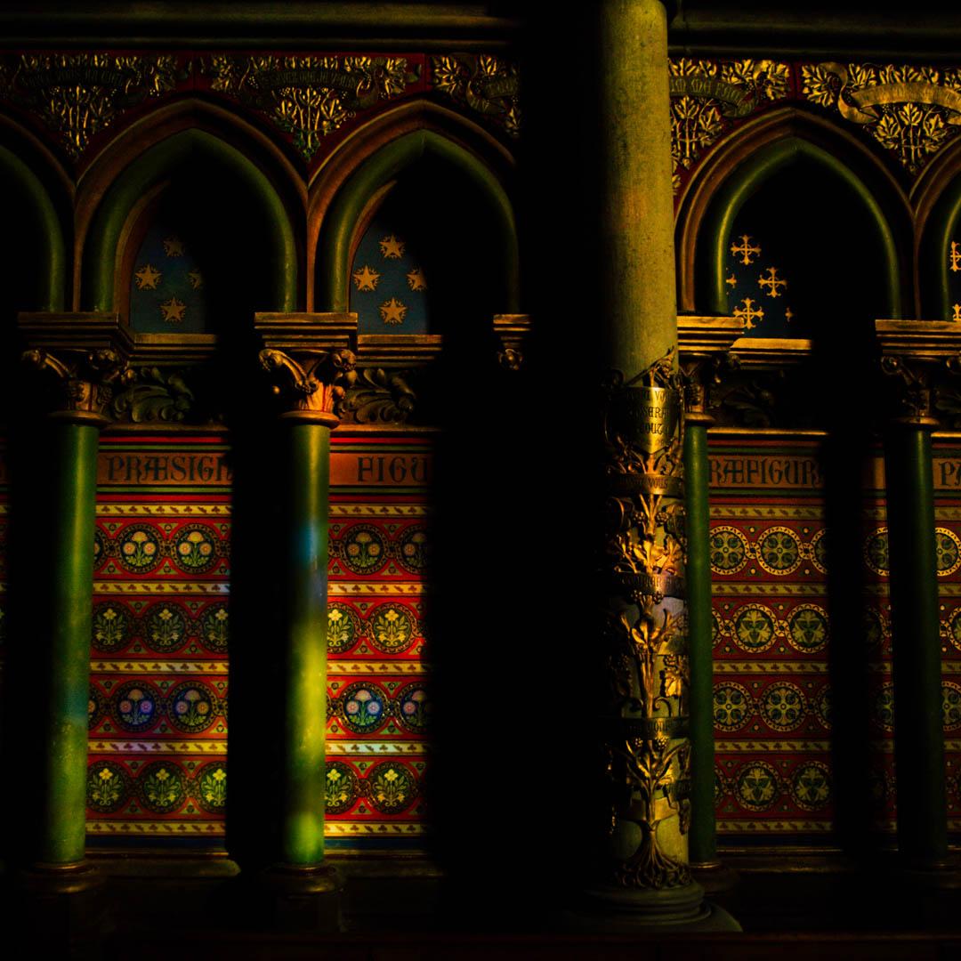 peintures murales chapelle absidiale cathédrale notre dame de la treille lille 4411