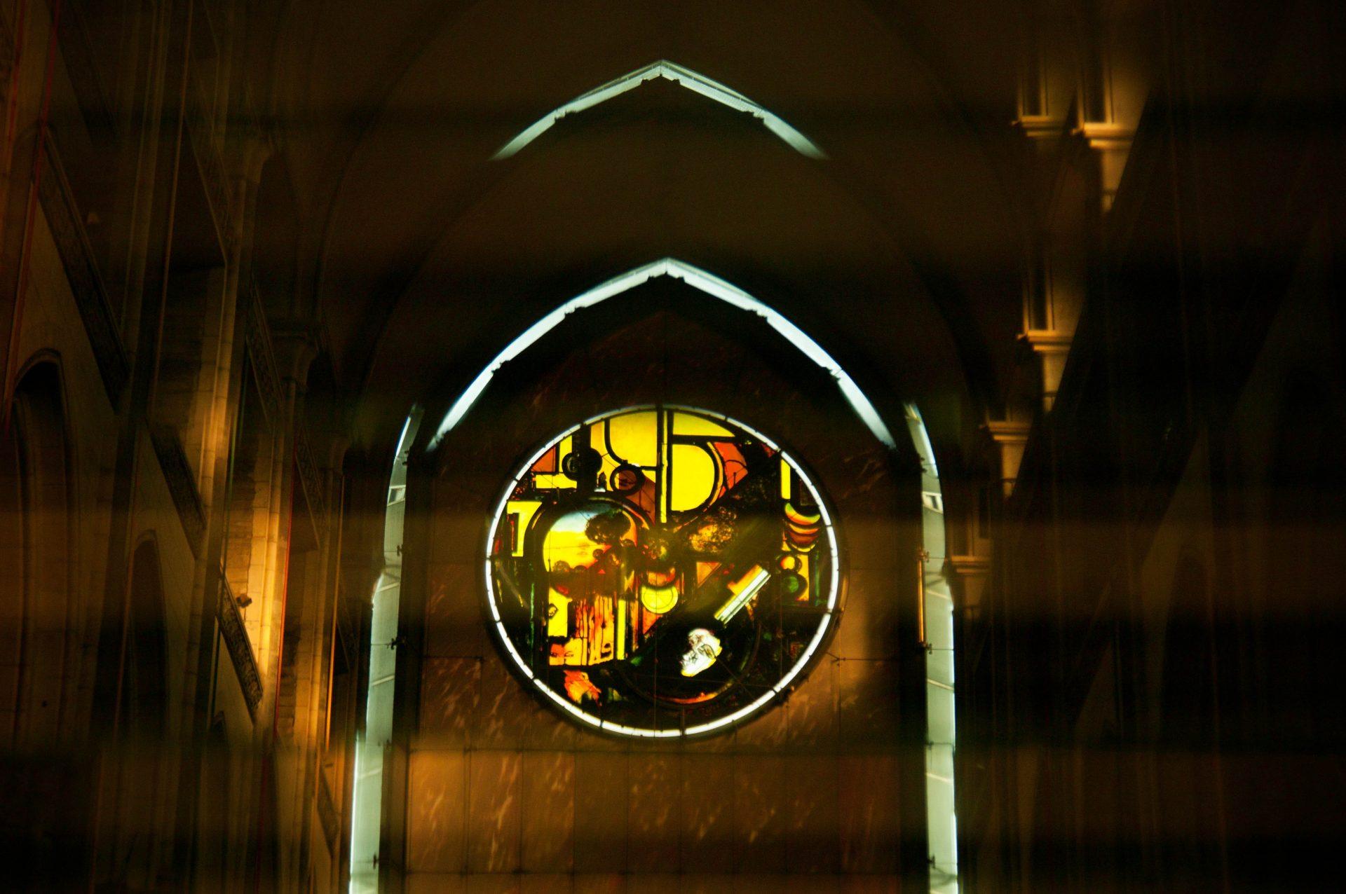 rosace kijno cathédrale notre dame de la treille lille reflet