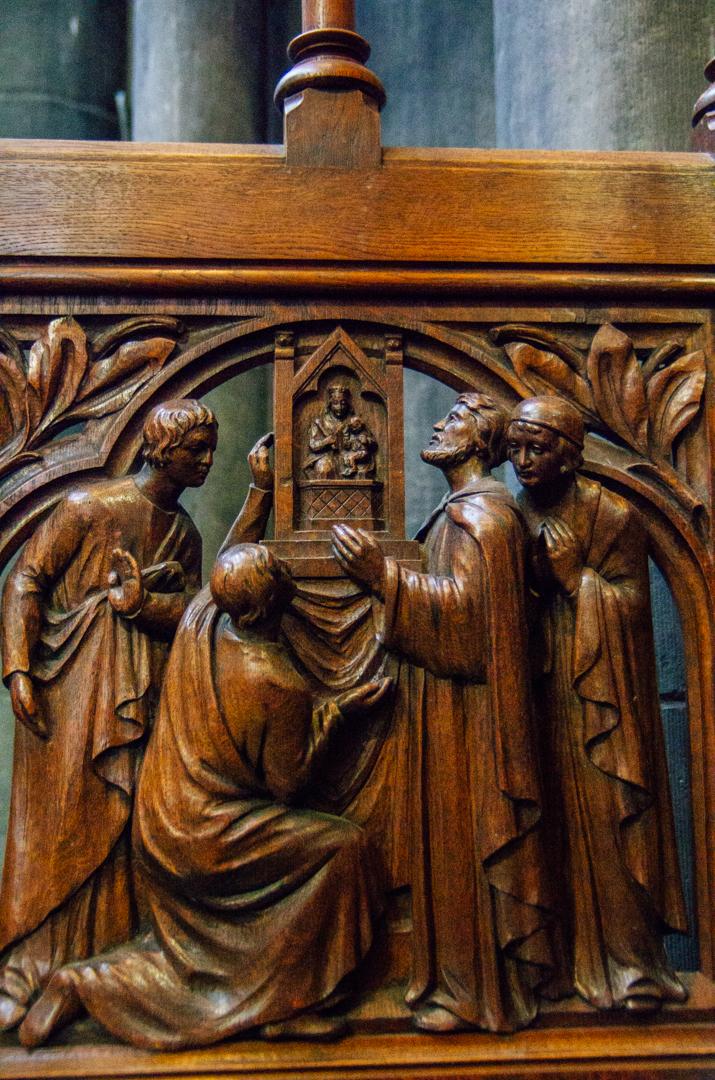 stalles miracles cathédrale notre dame de la treille lille 91
