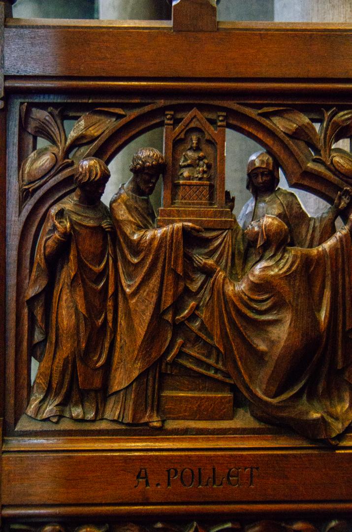 stalles miracles cathédrale notre dame de la treille lille 93