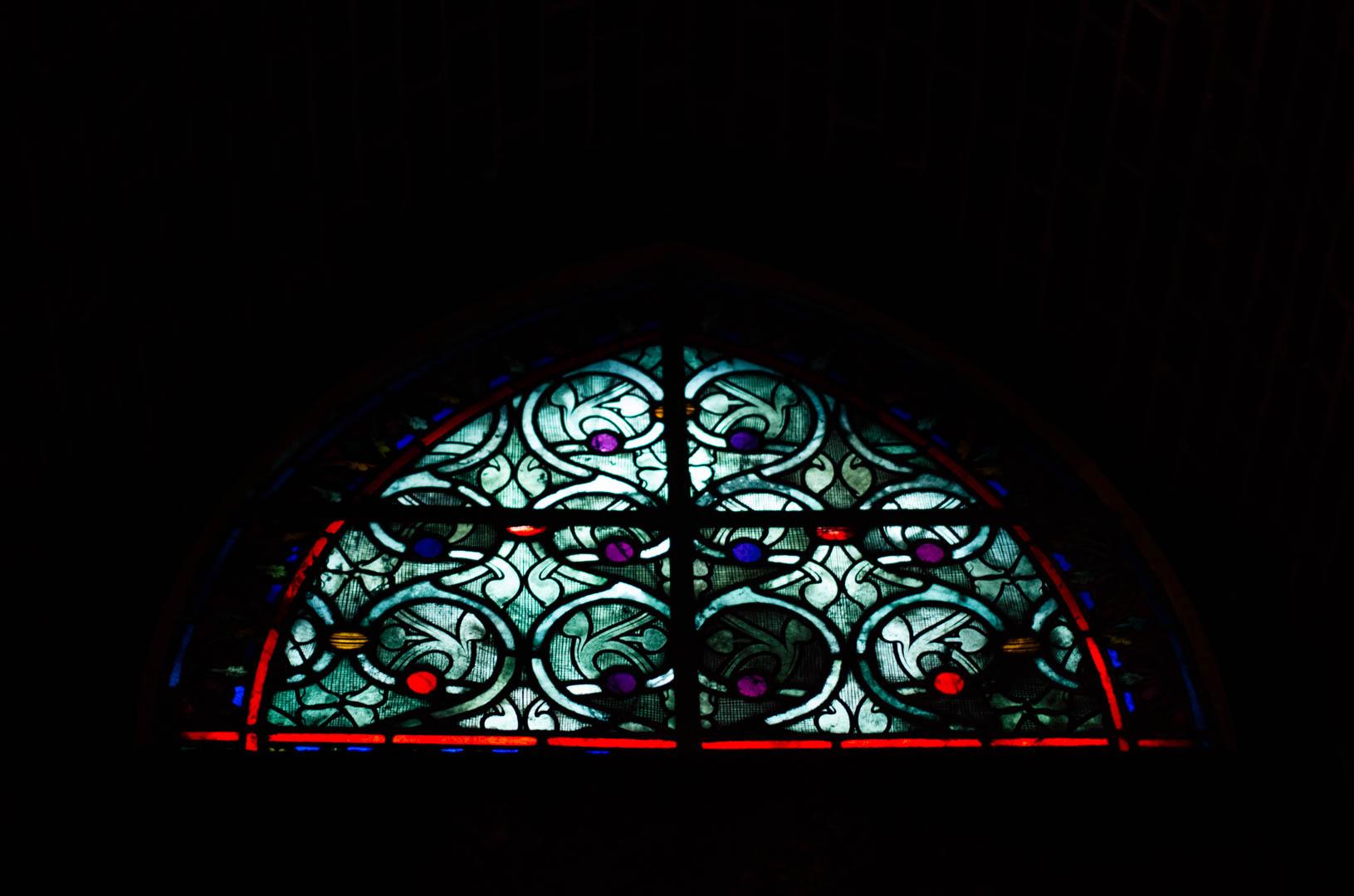 vitraux crype néo gothique cathédrale notre dame de la treille lille 6209