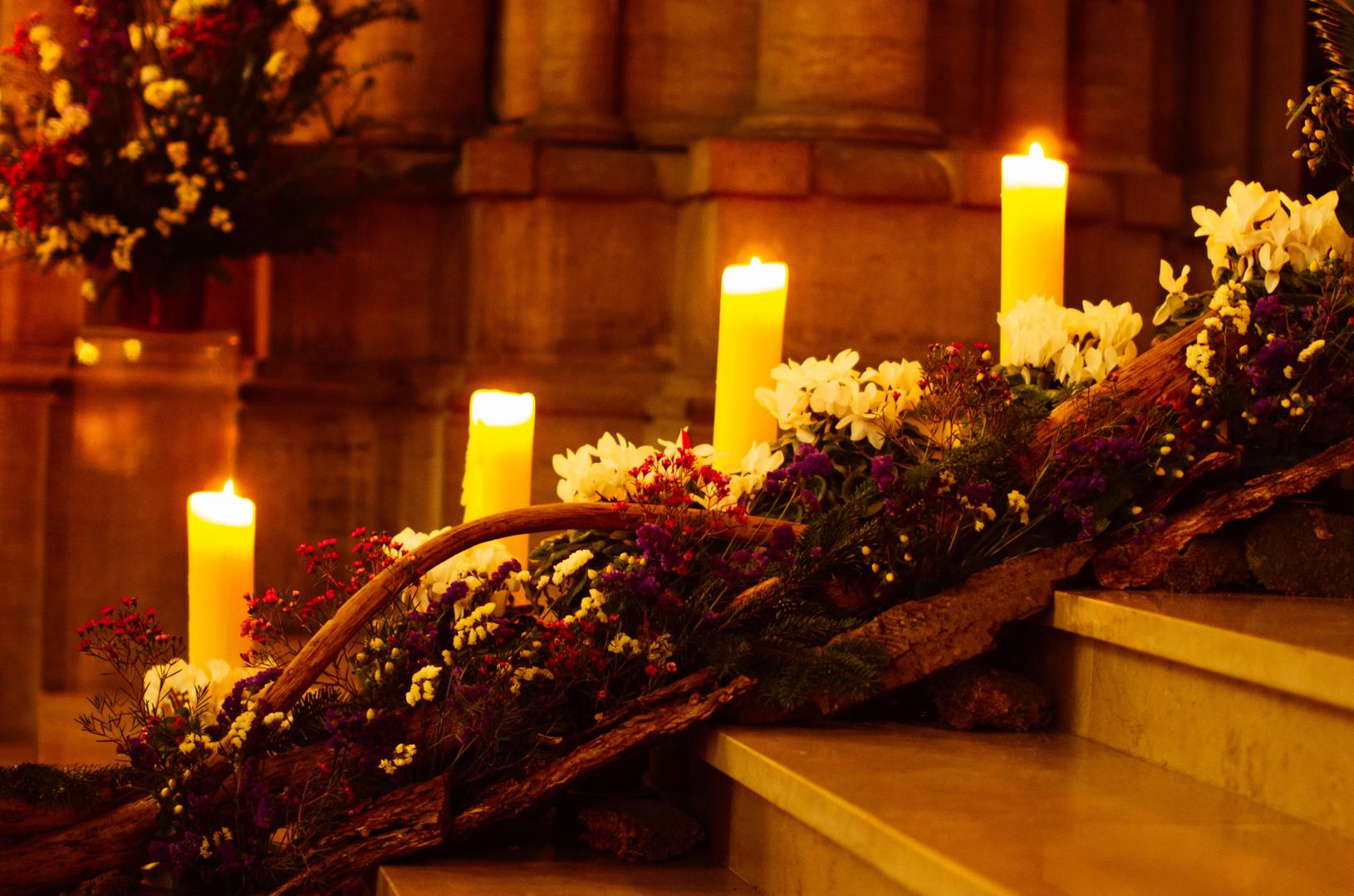 composition florale noël cathédrale notre dame de la treille 5