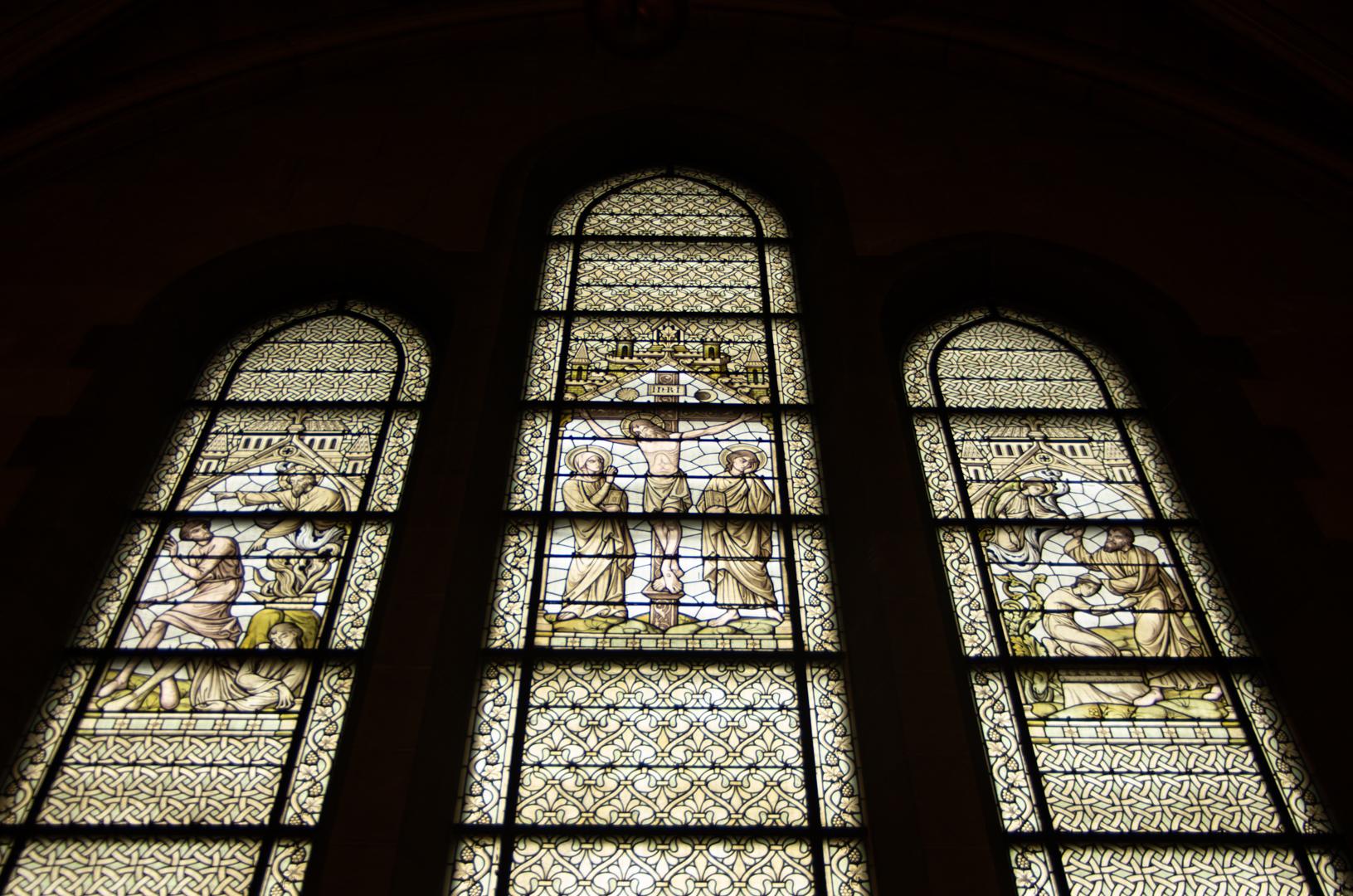 vitrail chapelle capitulaire cathédrale notre dame de la treille