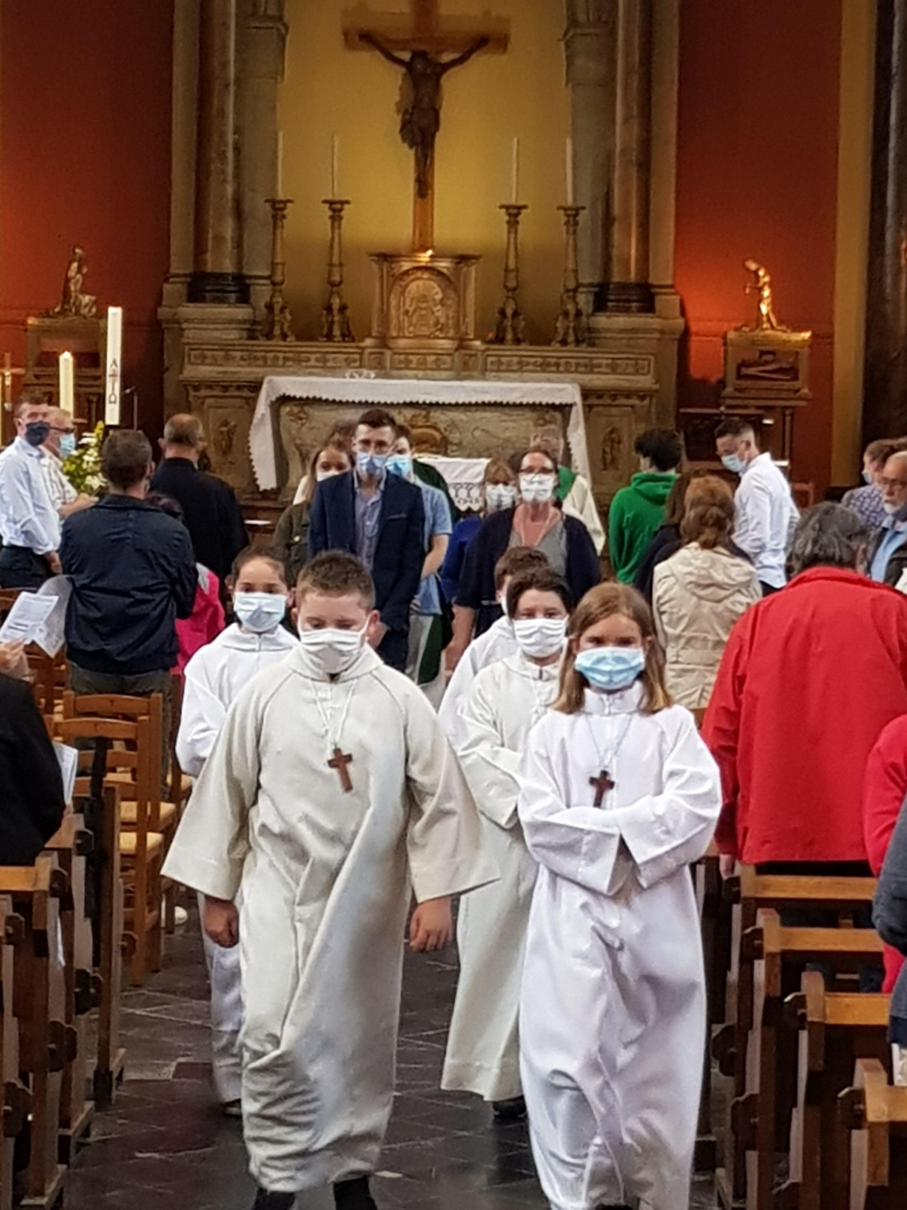 procession vers le baptistère