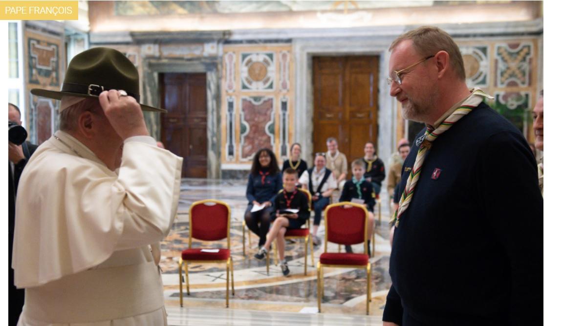 scout avec le pape